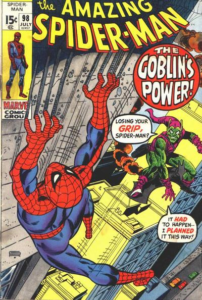 Cover for The Amazing Spider-Man (Marvel, 1963 series) #98 [Regular Edition]