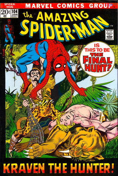 Cover for The Amazing Spider-Man (Marvel, 1963 series) #104 [Regular Edition]
