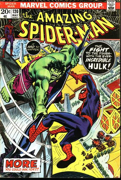 Cover for The Amazing Spider-Man (Marvel, 1963 series) #120 [British Price Variant]