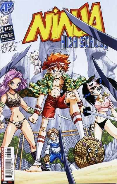 Cover for Ninja High School (Antarctic Press, 1994 series) #138