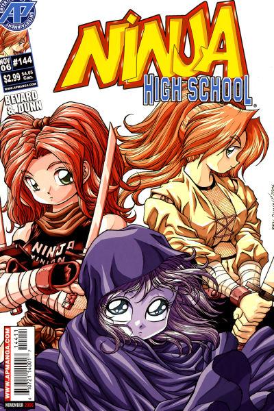 Cover for Ninja High School (Antarctic Press, 1994 series) #144