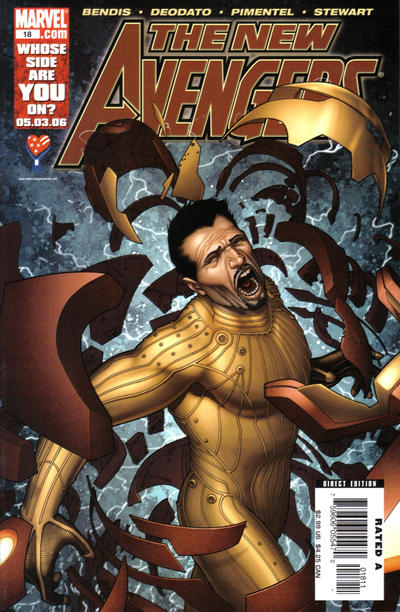 Cover for New Avengers (Marvel, 2005 series) #18 [Direct Edition]