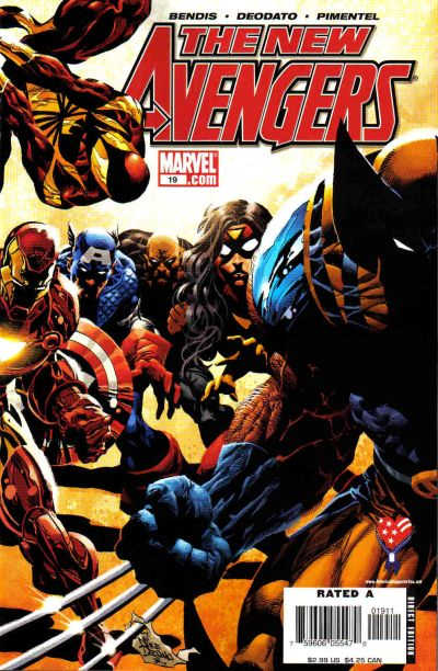 Cover for New Avengers (Marvel, 2005 series) #19 [Direct Edition]