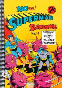 Cover Thumbnail for Superman Supacomic (K. G. Murray, 1959 series) #13