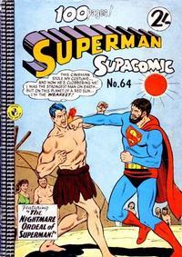 Cover Thumbnail for Superman Supacomic (K. G. Murray, 1959 series) #64