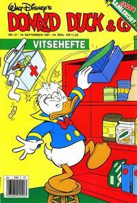 Cover Thumbnail for Donald Duck & Co (Hjemmet / Egmont, 1948 series) #37/1991