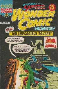 Cover Thumbnail for Superman Presents Wonder Comic Monthly (K. G. Murray, 1965 ? series) #118