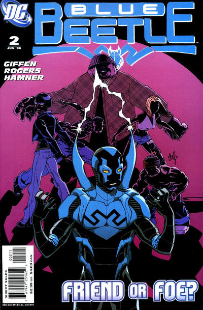 Cover for The Blue Beetle (DC, 2006 series) #2 [Second Printing]