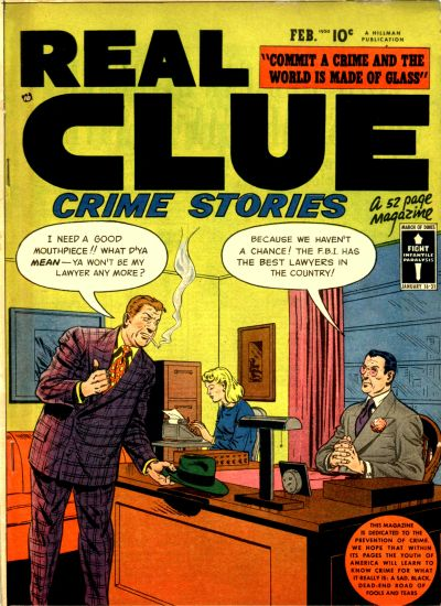 Cover for Real Clue Crime Stories (Hillman, 1947 series) #v4#12 [48]