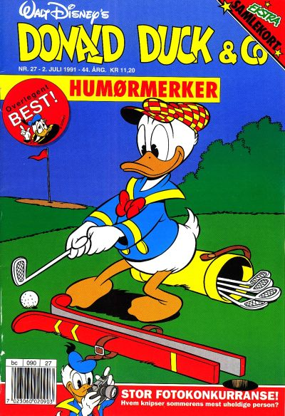 Cover for Donald Duck & Co (Hjemmet / Egmont, 1948 series) #27/1991