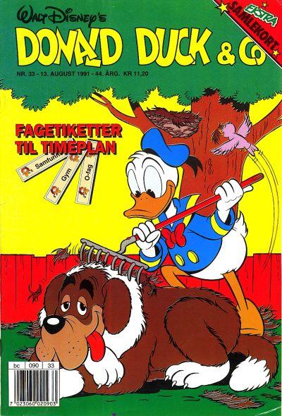 Cover for Donald Duck & Co (Hjemmet / Egmont, 1948 series) #33/1991