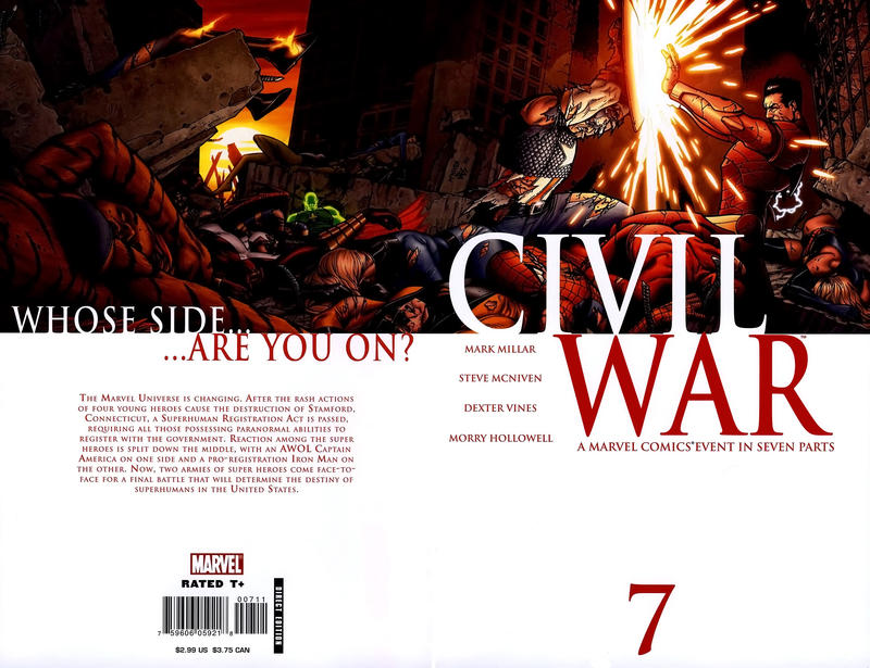 Cover for Civil War (Marvel, 2006 series) #7 [Standard Cover]