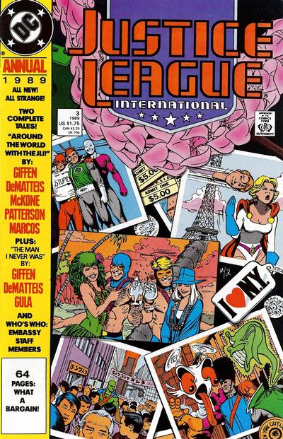 Cover for Justice League Annual (DC, 1987 series) #3 [Direct]