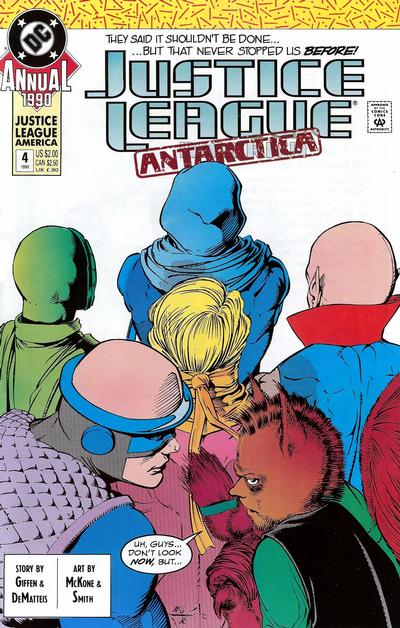 Cover for Justice League Annual (DC, 1987 series) #4 [Direct]