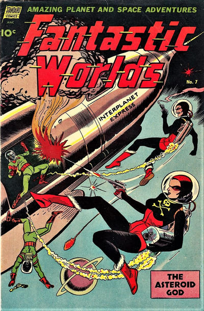 Cover for Fantastic Worlds (Pines, 1952 series) #7