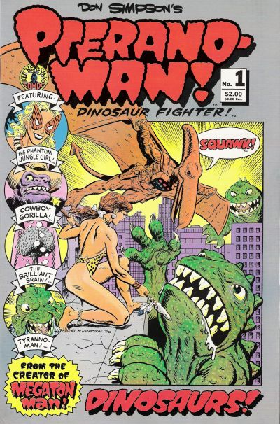 Cover for Pteranoman (Kitchen Sink Press, 1990 series) #1