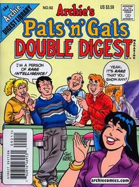 Cover Thumbnail for Archie's Pals 'n' Gals Double Digest Magazine (Archie, 1992 series) #92 [Direct Edition]