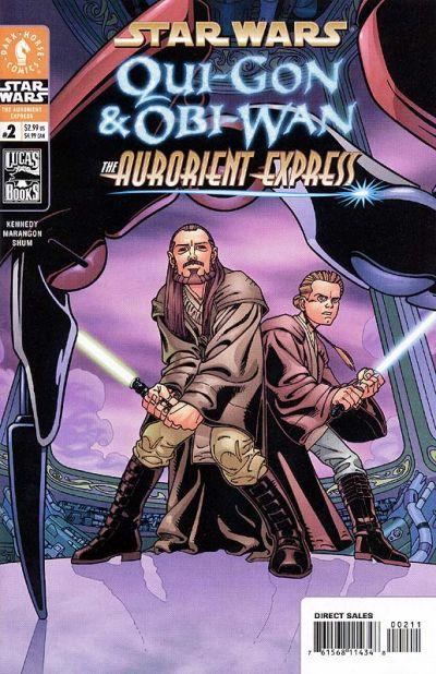 Cover for Star Wars: Qui-Gon & Obi-Wan - The Aurorient Express (Dark Horse, 2002 series) #2 [Newsstand]