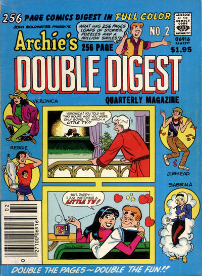 Cover for Archie's Double Digest Quarterly Magazine (Archie, 1982 series) #2