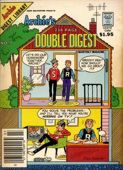 Cover for Archie's Double Digest Quarterly Magazine (Archie, 1982 series) #7