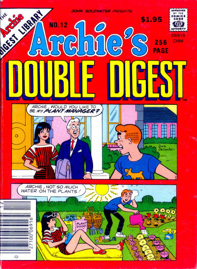 Cover for Archie's Double Digest Magazine (Archie, 1984 series) #12