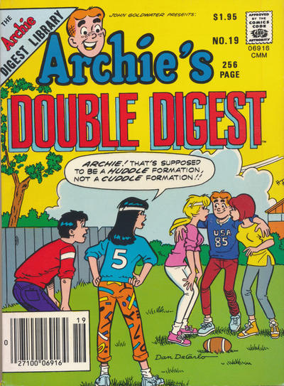 Cover for Archie's Double Digest Magazine (Archie, 1984 series) #19