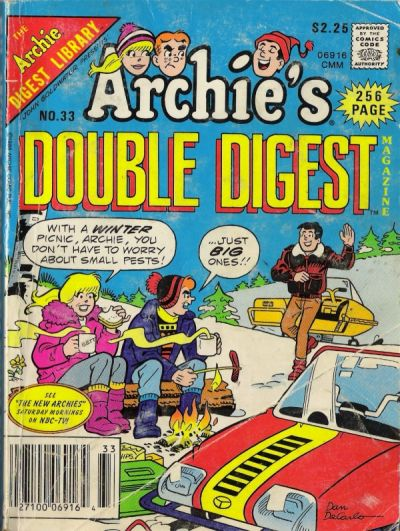 Cover for Archie's Double Digest Magazine (Archie, 1984 series) #33
