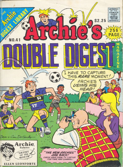 Cover for Archie's Double Digest Magazine (Archie, 1984 series) #41