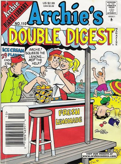 Cover for Archie's Double Digest Magazine (Archie, 1984 series) #110