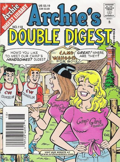 Cover for Archie's Double Digest Magazine (Archie, 1984 series) #118 [Newsstand]