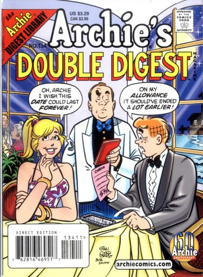 Cover for Archie's Double Digest Magazine (Archie, 1984 series) #134 [Newsstand]