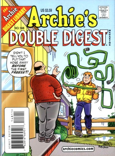 Cover for Archie's Double Digest Magazine (Archie, 1984 series) #148 [Newsstand]