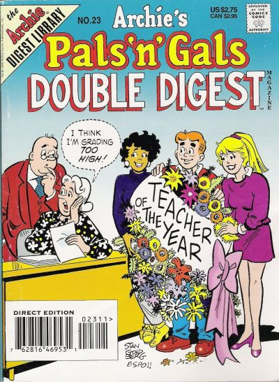 Cover for Archie's Pals 'n' Gals Double Digest Magazine (Archie, 1992 series) #23 [Direct Edition]