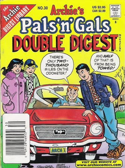 Cover for Archie's Pals 'n' Gals Double Digest Magazine (Archie, 1992 series) #30
