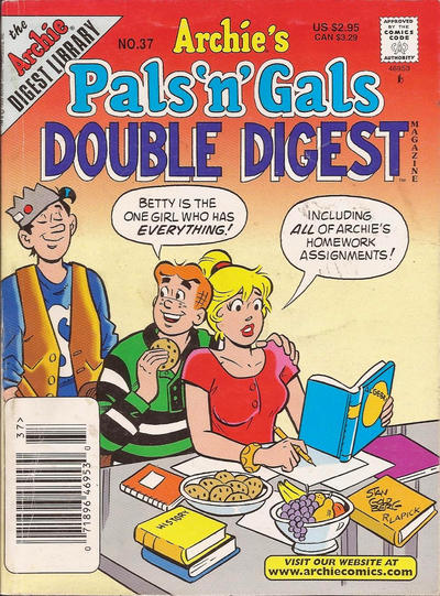 Cover for Archie's Pals 'n' Gals Double Digest Magazine (Archie, 1992 series) #37 [Direct Edition]