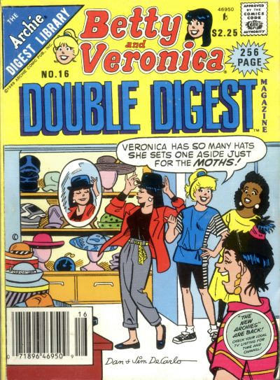Cover for Betty and Veronica Double Digest Magazine (Archie, 1987 series) #16