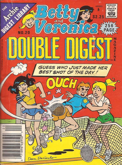 Cover for Betty and Veronica Double Digest Magazine (Archie, 1987 series) #20