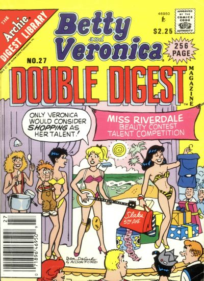 Cover for Betty and Veronica Double Digest Magazine (Archie, 1987 series) #27