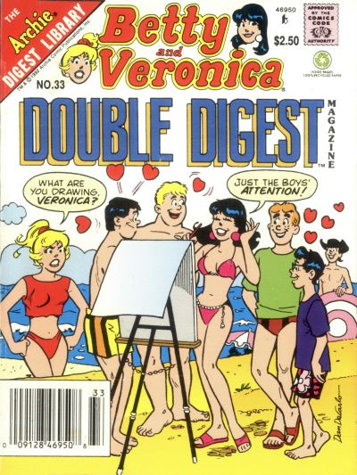 Cover for Betty and Veronica Double Digest Magazine (Archie, 1987 series) #33 [Newsstand]