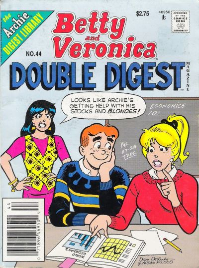 Cover for Betty and Veronica Double Digest Magazine (Archie, 1987 series) #44 [Newsstand]