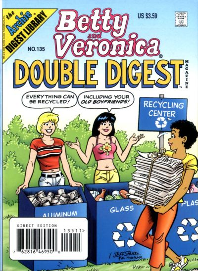 Cover for Betty and Veronica Double Digest Magazine (Archie, 1987 series) #135