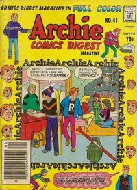Cover Thumbnail for Archie Comics Digest (Archie, 1973 series) #41 [Newsstand]