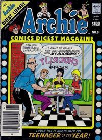 Cover Thumbnail for Archie Comics Digest (Archie, 1973 series) #61