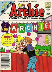 Cover Thumbnail for Archie Comics Digest (Archie, 1973 series) #67
