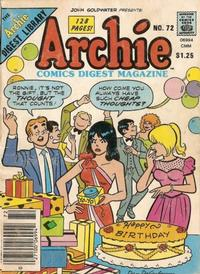 Cover Thumbnail for Archie Comics Digest (Archie, 1973 series) #72