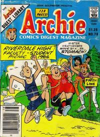 Cover Thumbnail for Archie Comics Digest (Archie, 1973 series) #78