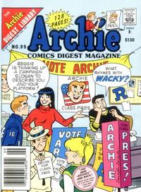 Cover Thumbnail for Archie Comics Digest (Archie, 1973 series) #99