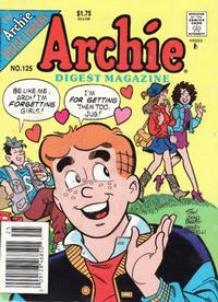 Cover Thumbnail for Archie Comics Digest (Archie, 1973 series) #125