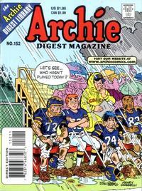 Cover Thumbnail for Archie Comics Digest (Archie, 1973 series) #152