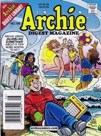 Cover for Archie Comics Digest (Archie, 1973 series) #196